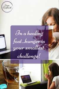 Sam Cadosch - fast, healing fast, tea, water, cup, health - pin